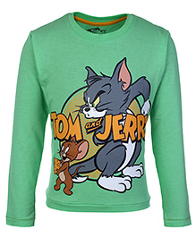 Tom And Jerry T-Shirt Green - Full Sleeves - 3 To 4 Years