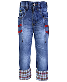 Babyhug Denim Jeans With Folded Bottom