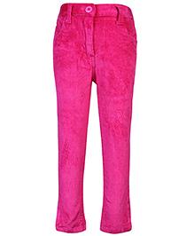 Babyhug Corduroy Trousers - Hot Pink