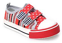 Shoebiz Canvas Shoes Velcro Closure - Star Print