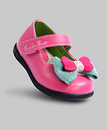 Candy Pink Mary Jane with Bow Shoes