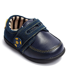 Football Buckle Casual Shoes - Navy Blue