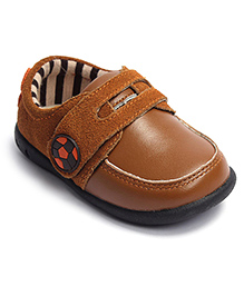 Football Buckle Casual Shoes - Brown