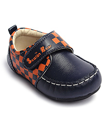 Checkered Loafers - Navy Blue