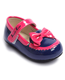 Chick Bow Booties - Blue/Pink