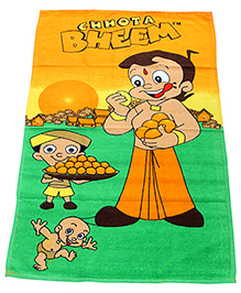 Chhota Bheem Bath Towel - Orange And Green