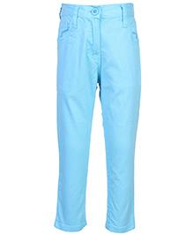 Babyhug Full Length Trouser - Aqua Blue