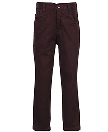 Babyhug Full Length Trousers - Coffee