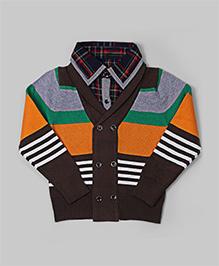 GLN Coffee Brown Stripe Sweater