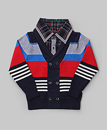 GLN Navy Blue Stripe Sweater