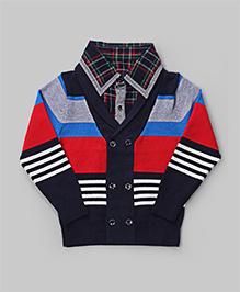 GLN Navy Blue Stripe Sweater