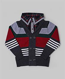 GLN Dark Gray Stripes Sweater