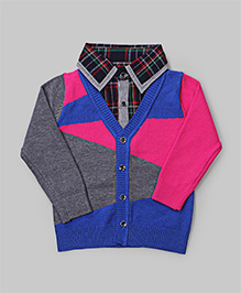 Hot Pink Color Block Sweater