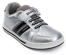 Shoebiz Sport Shoes With Velcro Closure - Silver