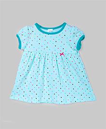 Pastel Blue Polka Dot Dress