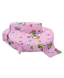 Babyhug Feeding Pillow Small Snooby Print  - Apple Pink