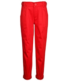 ShopperTree Turn Up Bottom Pants - Red
