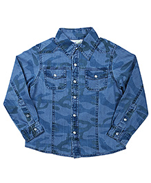 ShopperTree Full Sleeves Shirt - Denim
