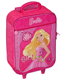 Barbie Kidz Travel Trolley Bag - Pink