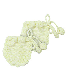 Babyhug Woolen Booties - Lemon