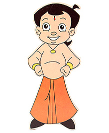Prasima Toys Chhota Bheem Wooden Cut-outs - Angry