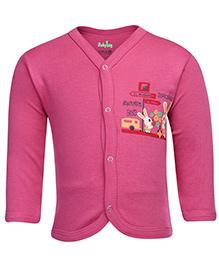 Babyhug Full Sleeves Front Open Vest - Pink