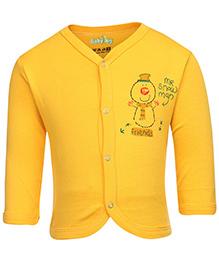 Babyhug Full Sleeves Front Open Vest - Yellow