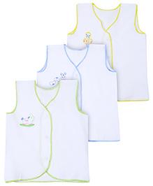 Babyhug Sleeveless Vest - Set of 3