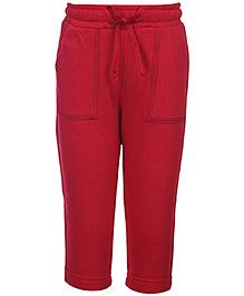 Babyhug Full Length Track Pant - Red
