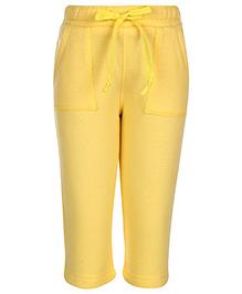 Babyhug Full Length Track Pant - Yellow