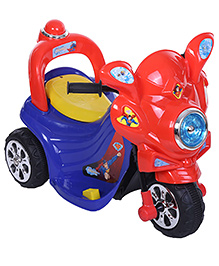 Toyzone Superman Rechargeable Bike - Red And Blue