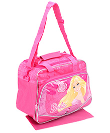Barbie Kidz Travel Bag With Changing Mat - Pink