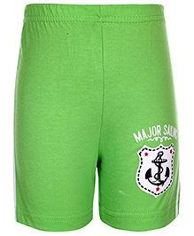 Taeko Bermuda Shorts Sailing Patch - Lime Green