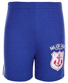 Taeko Bermuda Shorts Sailing Patch - Royal Blue