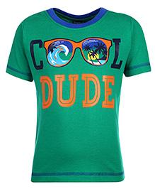Taeko Half Sleeve T-Shirt - Cool Dude Print