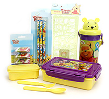 Winnie The Pooh School Kit - Purple And Yellow
