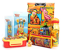 Winnie The Pooh School Kit - Yellow And Red