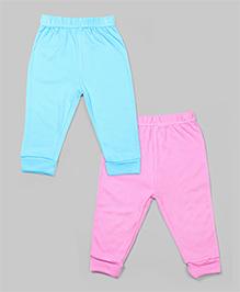 Cyan & Pink Set of 2 Bamboo Pants