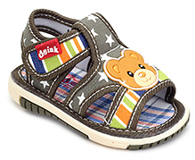 Doink Baby Sandals Velcro Closure - Teddy Applique
