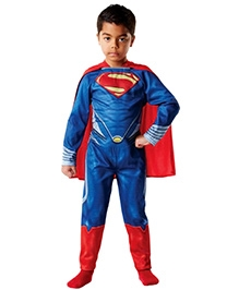 Superman Flat Chest Theme Costume - Red And Dark Blue