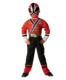 Power Ranger Classic Costume - Red And Black