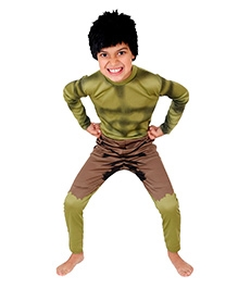 Marvel Hulk Classic Themed Costume - Wig Green