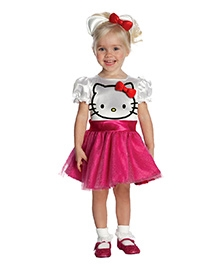 Hello Kitty Tut Dress Costume - White And Pink