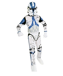 Star Wars Clone Trooper Costume - White And Blue