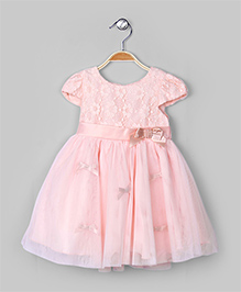 Peach Puff Rosette Dress
