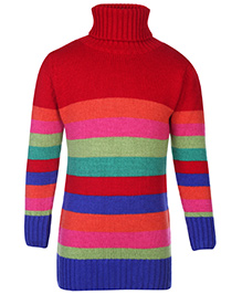 Babyhug Full Sleeves Sweater - Stripes