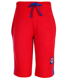 Taeko Three Fourth Length Track Pant - Red