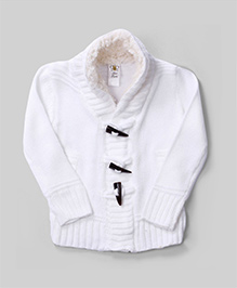 Bee Born Winter Warmth Cardigan - White