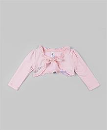 Bee Born Classic Rose Ruffled Shrug - Pink