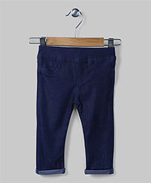 Blue Casual Jeggings